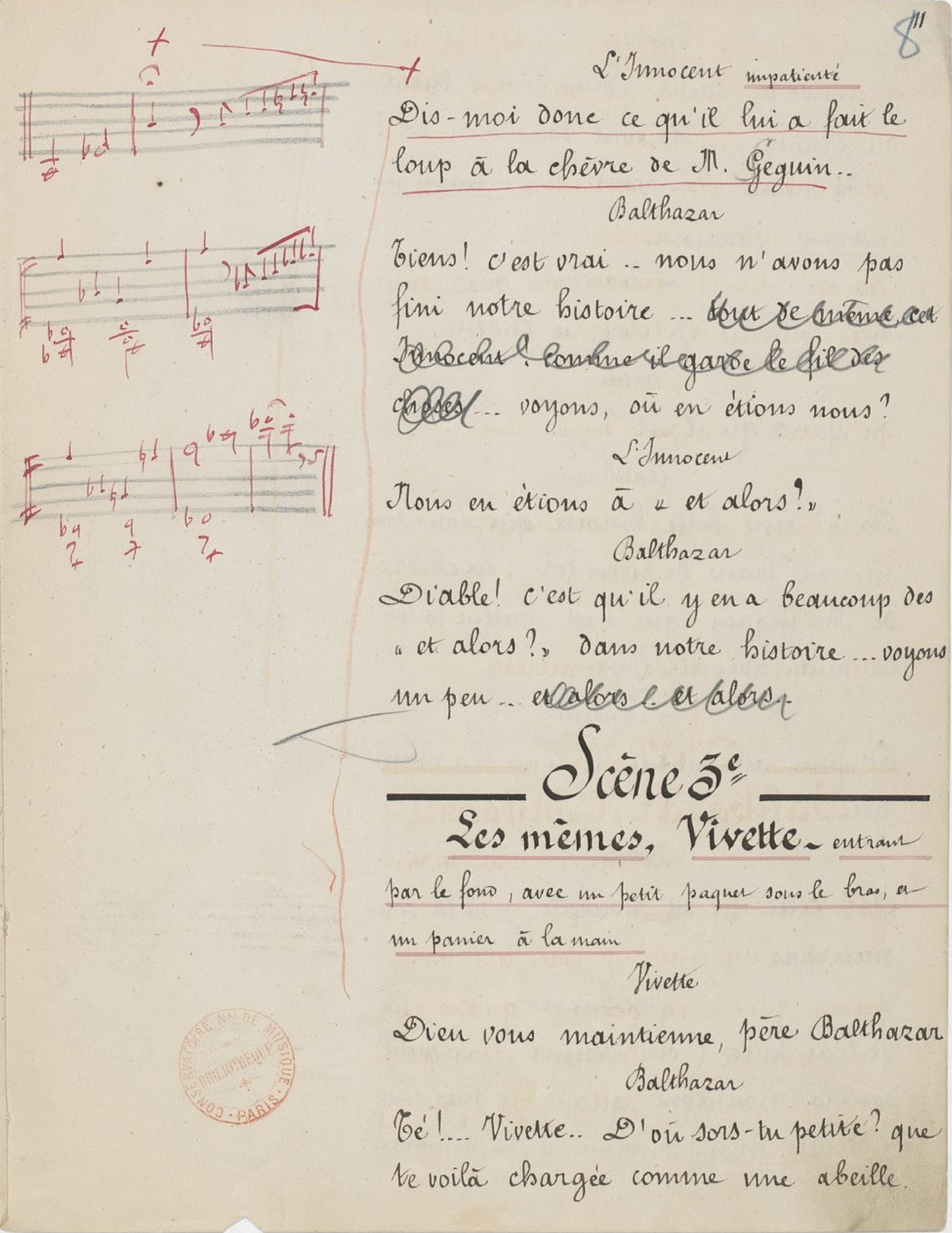 Annotations musicales.